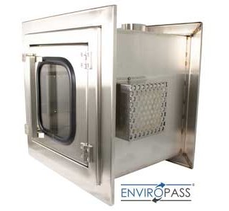 EnviroPass Ventilated Pass-Through showing HEPA filter and vent