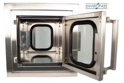 EnviroPass® custom stainless pass-thru front interior view with door open