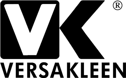 Versakleen logo for https://www.versakleen.com surgical scrub sinks web site in black for site link