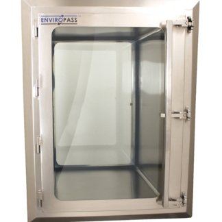 EnviroPass® Biologically-Safe Stainless Steel Pass-Through with Viewing window
