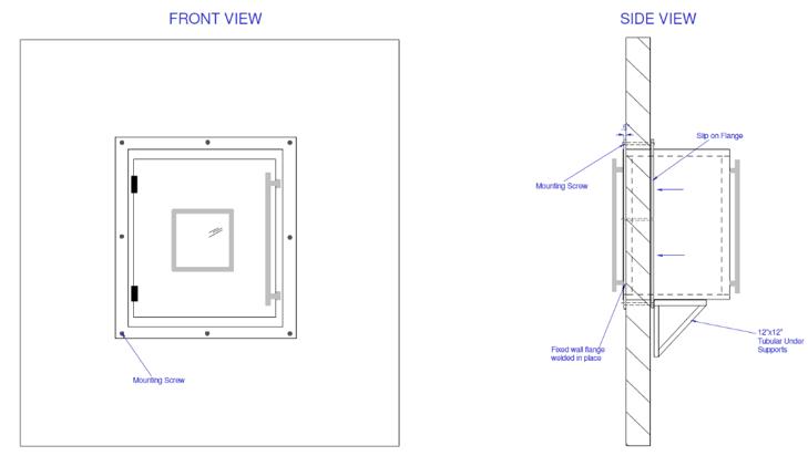 EnviroPass® single-walled pass-through diagram