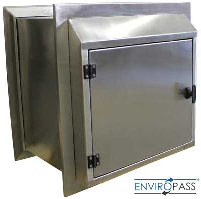 EnviroPass® Stainless Steel Specimen Pass-Through front view with closed door