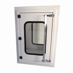 EnviroPass® Powder-Coated Mild Steel Pass-through with solid-door