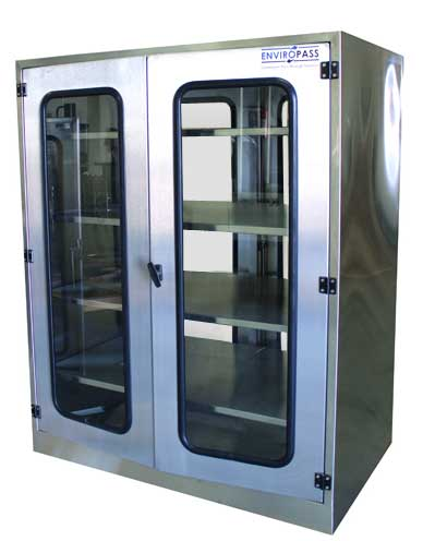 EnviroPass®Custom Stainless Steel pass-through with double doors