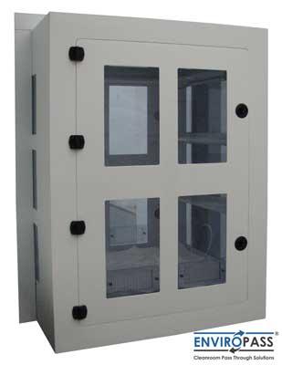 EnviroPass® chemical resistant polypropylene pass-through chamber medium version exterior view