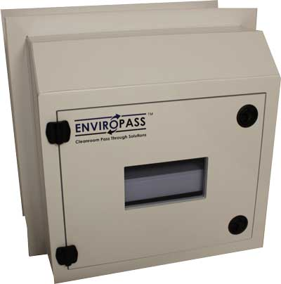 EnviroPass® chemical resistant polypropylene pass-through chamber small version exterior