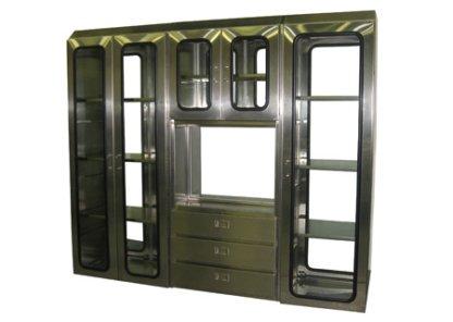 EnviroPass® Custom pass-through station showing mutliple chambers in stainless steel