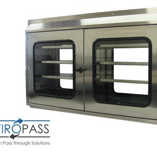 EnviroPass® stainless steel operating room pass through console with logo