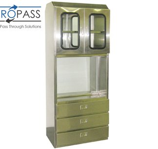 EnviroPass® stainless steel surgical pass through cabinet with logo