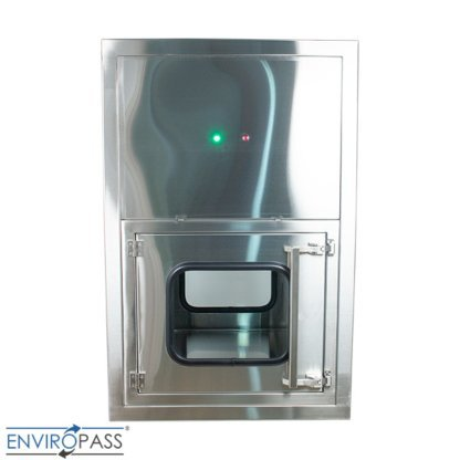 ENVIROPASS® Stainless Steel Ventilated Negative Pressure Pass-Through with Fan Filter Unit Front View