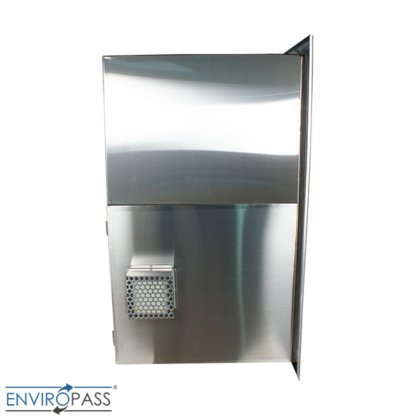 ENVIROPASS® Stainless Steel Ventilated Negative Pressure Pass-Through with Fan Filter Unit view of side ULPA filter