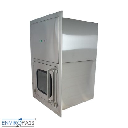 ENVIROPASS® Stainless Steel Ventilated Negative Pressure Pass-Through with Fan Filter Unit side view