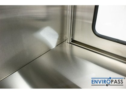 EnviroPass® Stainless Steel Ventilated Pass-Through with HEPA filter close-up detail of interior