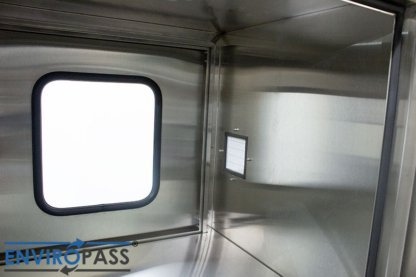 EnviroPass® Stainless Steel Ventilated Pass-Through with HEPA filter gat-ept-w-vpt-332931-ss front interior view of HEPA filter