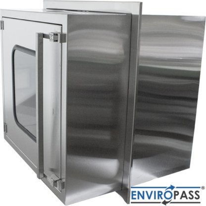 EnviroPass® Stainless Steel Ventilated Pass-Through with HEPA filter gat-ept-w-vpt-332931-ss side view