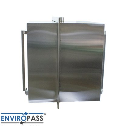 EnviroPass® Stainless Steel Ventilated Pass-Through with HEPA filter gat-ept-w-vpt-332931-ss view of side