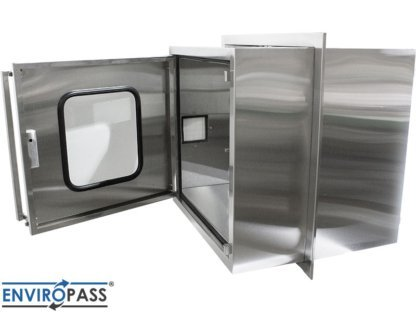 EnviroPass® Stainless Steel Ventilated Pass-Through with HEPA filter gat-ept-w-vpt-332931-ss back shown with door open