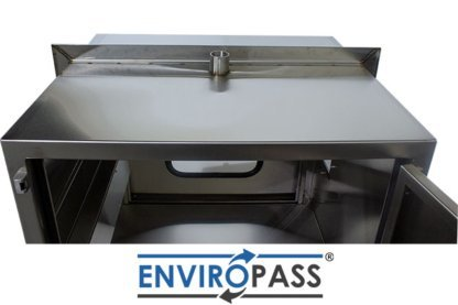 EnviroPass® Stainless Steel Ventilated Pass-Through with HEPA filter gat-ept-w-vpt-332931-ss top side with door open